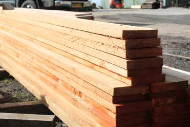 Larch planks