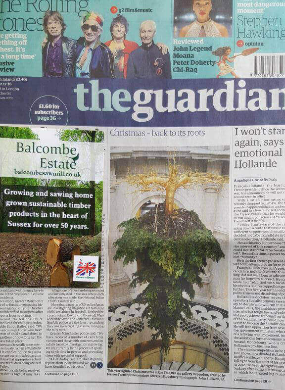 Christmas-Tree-The-Tate-Britian-Guardian-Newspaper (1)