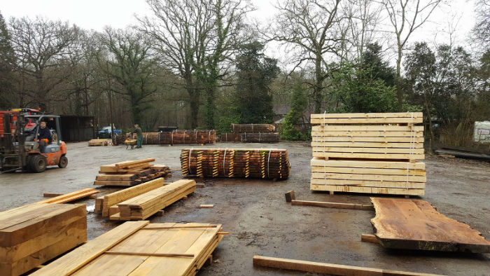 Timber Supplies Ready for Air Drying