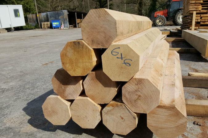 Balcombe Sawmill - 6x6 wooden logs